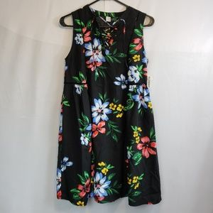 NWT Old Navy black floral sundress size xsmall